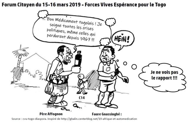 Forum citoyen Mouvement des Forces Vives Espérance pour le Togo 15 et 16 mars 2019